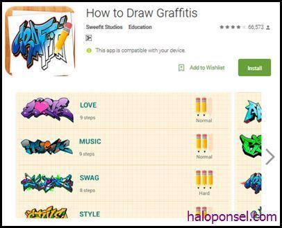 Aplikasi How To Draw Graffities