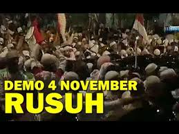 gambar demo 4 november ricuh